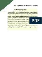 6) Branding & Creative Budget Template.xls