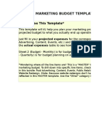 1) MASTER Marketing Budget Template.xls