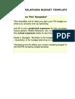 5) Public Relations Budget Template.xls