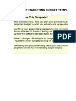 2) Product Marketing Budget Template.xls