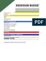 7) Website Redesign Budget Template.xls