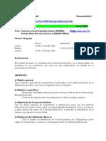 Temario Desglosado y Programacion Biologia Molecular 16-O