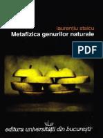Laurentiu Staicu-Metafizica Genurilor Naturale-Editura Universităţii Din Bucureşti %282007%29