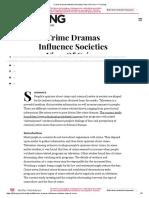 Crime Dramas Influence Societies View of Crime – FYI Living