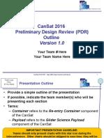 Cansat 2017 PDR Outline v1.0