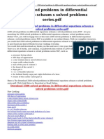 2500 Solved Problems in Differential Equations Schaum s Solved Problems Series