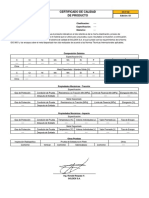 Certificado Calidad Soldinox - Sedisa