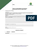 Formulário de Recurso Indeferimento de Inscrição