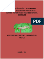 Caracterizacion Ecologica Del Componente Faunistico en Los Bosques Relictuales de Cordoba