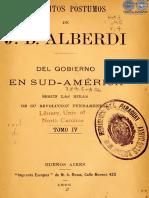 ESCRITOS POSTUMOS DE J B ALBERDI - TOMO IV - ANO 1896 - PORTALGUARANI