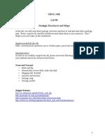 GEOL 1301 - Lab 06 - Geologic Struct & Maps