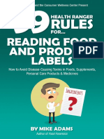 99 Health Ranger Rules Reading Labels