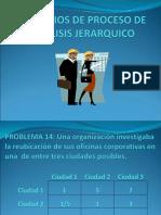 Ejercicios de Proceso de Analisis Jerarquico