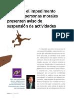 Suspension de Actividades Persona Moral