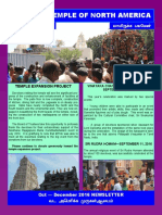 Murugan Temple Newsletter - Oct Nov Dec 2016