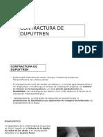 Contrctur de Dupytren , obstrucció linf´tic y tofos gotoso