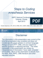 Anesthesia Coding Guidelines