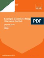 0580 Mathematics Example Candidate Responses Booklet