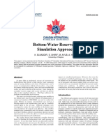 Bottom-Water Reservoirs, Simulation Approach