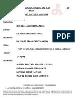 CAP III CULTURA ORGANIZACIONAL Y CLIMA LABORAL