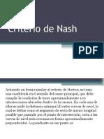 Criterio de Nash
