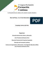 Programa Congreso Provincial de Formación Docente Continua 1ELt