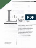 Balanza de Pagos en El Peru