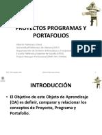 1.0.3 Proyectos Programas y Portafolios