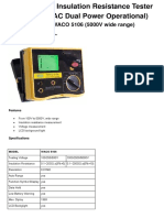 WACO 5106 Digital Insulation Tester 5000V