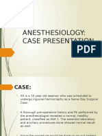 Anesthesiology Case Pres