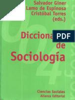 Diccionario de Sociología
