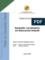 Aprender Vocabulario Educ. Infantil
