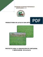 Produccion de Alfalfa en Comunidad Indigena