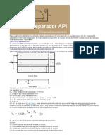 Dimensionamiento de Una Fosa API