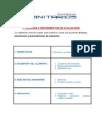 INSTRUMENTOS, CRITERIOS Y RÚBRICAS DE EVALUACIÓN 2016-17
