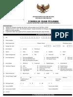 Formulir Isian Pegawai Excel