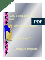 MODULO Investigacion Conceptos Variables