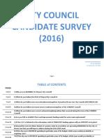 Council Candidate Survey (2016)