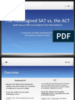 ACT vs. Redesigned SAT With Subject Test and PSAT info