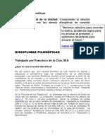 DISCILINAS FILOSOFICAS