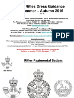 Rifles Dress Guidance