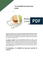 Marketing y La Obesidad Un Tema Muy Difícil de Abordar
