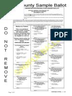 Sample Ballot for Cobb County Nov. 8 Presidential Election