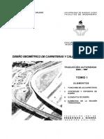 AASTHO Diseño Geometrico de Carreteras y Calles 1994