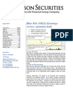 NILE Maintain SELL Rating