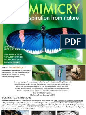 239529450-Biomimicry-in-Architecture pdf | Mimicry | Ecology