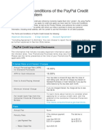 Paypal Credit Terms
