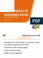 Lecture 3.1 Components of Windows Azure 20sl