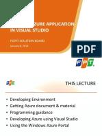 Lecture 2.2 Develop an Azure Program in Visual Studio 22sl