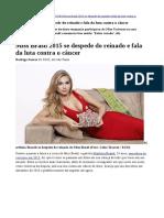 Miss Brasil 2015 Fala Da Luta Contra o Câncer